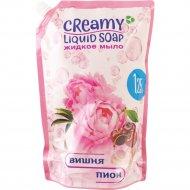Жидкое мягкое крем-мыло «Creamy» вишня и пион, 1250 мл.