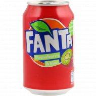Напиток газированный «Fanta» Strawberry-Kiwi, 0.33 л.