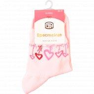 Носки женские «Брестские» розовые, 23 размер.