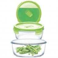 Контейнер стеклянный «Purebox Active Neon green» с крышкой, 920 мл.