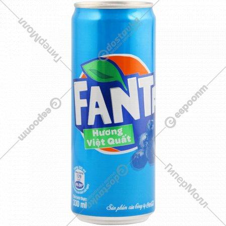Напиток газированный «Fanta» Huong Viet Quat Черника, 0.33 л.