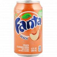 Напиток газированный «Fanta» персик, 0.355 л.
