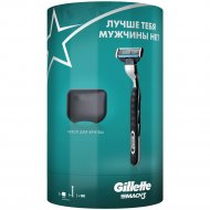 Подарочный набор «Gillette» бритва Mach3, чехол