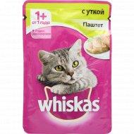 Корм для кошек «Whiskas» паштет с уткой, 85 г.