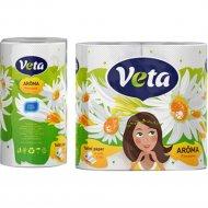 Бумага туалетная «Veta» ромашка, 4 рулона.