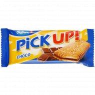 Печенье-сендвич «Пик Ап! Шоко» с плиточкой молочного шоколада, 28 г.