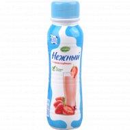 Напиток йогуртный «Нежный» с соком клубники 0,1%, 285 г.