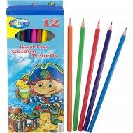 Набор цветных карандашей «Pirate» 12 цветов, 84268.
