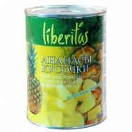 Кусочки ананасов «Liberitas» 567 г
