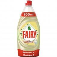 Средство для мытья посуды «Fairy» ромашка и витамин E, 900 мл.