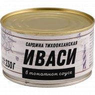 Консервы рыбные «Иваси» в томатном соусе, 230 г.