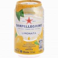 Напиток «Sanpellegrino» лимонный, 0.33 л