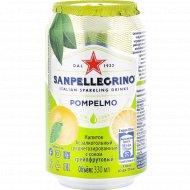 Напиток безалкогольный «Sanpellecrino» с соком грейпфрута, 0.33 л.