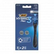 Мужская бритва «Bic» Flex3 Hybrid с 2 сменными кассетами.