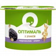 Биойогурт «Оптималь» чернослив-злаки, 2 %, 120 г.