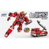 Конструктор «Xingbao» Fire Robot And Aerial Ladder Truck, XB-20004