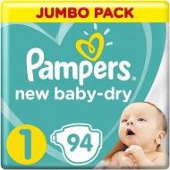 Подгузники «Pampers» New Baby Dry, 3-6 кг, 1 размер, 94 шт.