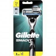 Станок для бритья «Gillette Mach 3» со сменной кассетой.