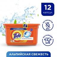 Капсулы для стирки «Tide» Альпийская свежесть, 12x24.8 г