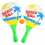 Набор для игры в пляжный теннис, 2 ракетки+1 мяч.