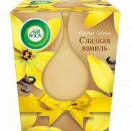 Свеча ароматизированная «Airwick» Candle, сладкая ваниль, 105 г.