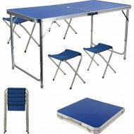 Туристический набор 1 стол размер 120x60x70 см + 4 стула.