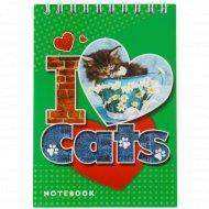 Блокнот «Котёнок и сердечко» 48 листов.