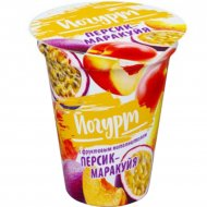 Йогурт «Бабушкина Крынка» персик-маракуйя, 2%, 310 г.