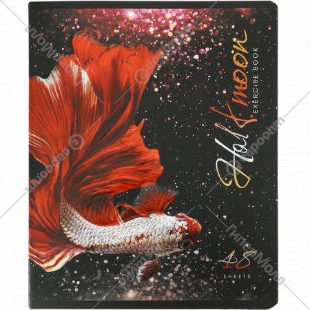 Тетрадь «Бойцовая рыбка Халф-мун», клетка 48 листов, А5.