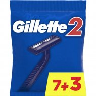Набор одноразовых станков «Gillette» для бритья, 9+1 шт