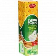Крекер «Кристо-Твисто» со вкусом сметаны и зеленью, 205 г.