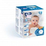 Подгузники детские одноразовые «Aura baby» размер 2S, 3-6 кг, 16 шт.