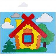 Игрушка-головоломка «Собери картинку: домик» 17 элементов, 20х15 см.