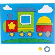 Игрушка-головоломка «Собери картинку:паровозик» 24 элемента, 20х15 см.