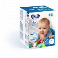 Подгузники детские одноразовые «Aura baby» размер 3M, 4-9 кг, 14 шт.
