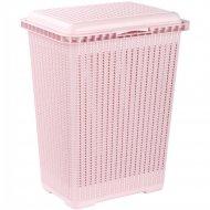 Корзина для белья «Вязаное плетение» розовая, 25 л.