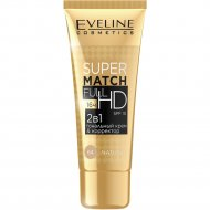 Тональный крем Eveline «Super Match Full HD», SPF 10, Natural, 30 мл.