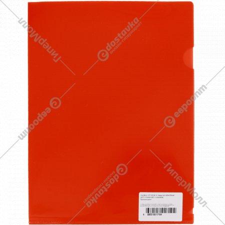 Папка-уголок А4 глянцевый, красный.