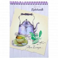 Блокнот «Чай с лимоном» А5, 48 листов.