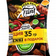 Гренки ржаные «Flint» боварские колбаски 110 г + томат Спайси 35 г.