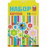 Картон цветной «Цветы» 10 цветов.