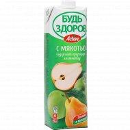 Нектар с мякотью «Будь здоров!» грушево-яблочный, 1 л.