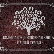 Книга «Большая родословная книга нашей семьи».