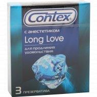 Презерватив «Contex» Long Love с анестетиком 3 шт.