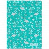 Дневник для девочки «Фламинго и листья папоротника» 80 листов.