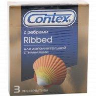 Презерватив «Contex» Ribbed ребристые 3 шт.