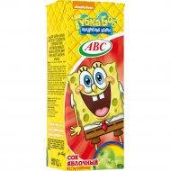 Сок «АВС» Nickelodeon slim, яблочный, 200 мл.