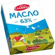 Масло сладкосливочное «Моя Славита» несоленое, 63%, 180 г.