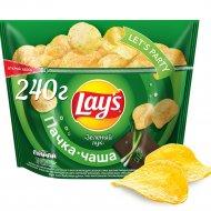 Чипсы «Lay's» со вкусом зелёного лука, 240 г.