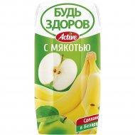 Нектар «Будь здоров!» яблочно-банановый, 0.2 л.